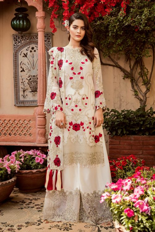 Grandeur Ecstasy Ramzan Eid Collection from Imrozia 701 The Milky Rose RESTOCKED UZ