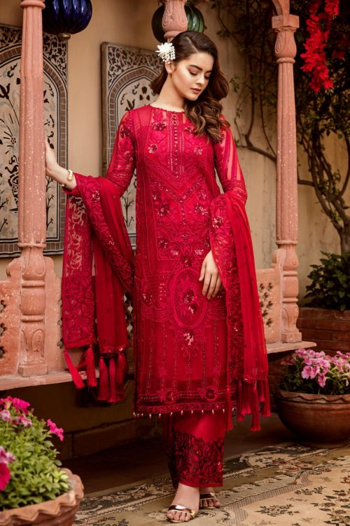 Grandeur Ecstasy Ramzan Eid Collection from Imrozia 709 The Heartthrob Red