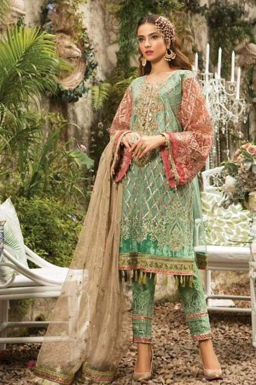 MARIA.B. Eid Unstitched MBROIDERED – (BD-1608) RESTOCKED