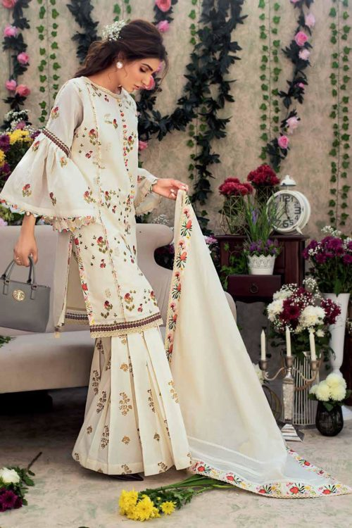 Gul Ahmed Eid Botanical Floral Collection 2019 FE186 RESTOCKED Gul Ahmed Eid Collection 2019 - Original best pakistani suits collection