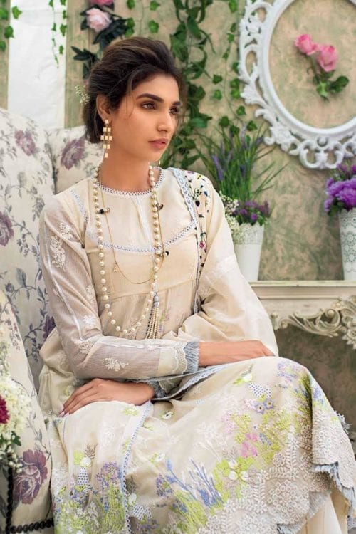 Gul Ahmed Eid Botanical Floral Collection 2019 FE183 Gul Ahmed Eid Collection 2019 - Original Gul Ahmed