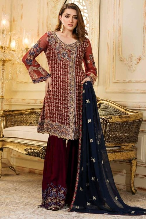 ~Sold out~ Ramsha Eid 2019 Chiffon Dupatta Salwar Suit