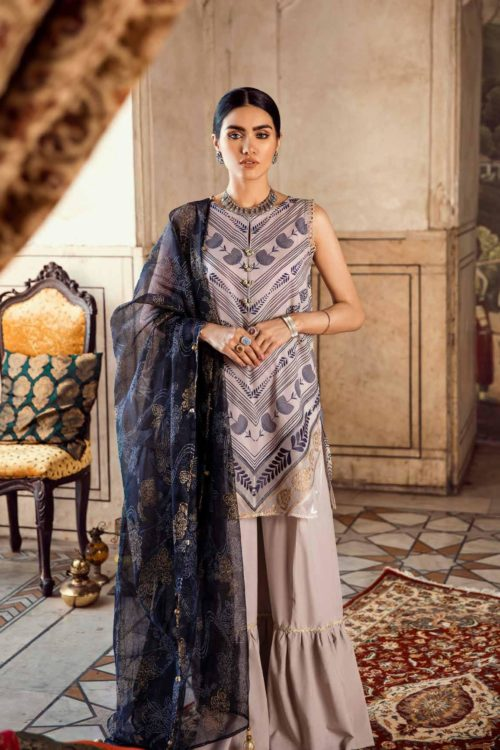 Cross Stitch Pakistani Suits Rani Bagh – Luxury Lawn '19 Design 10 RESTOCKED