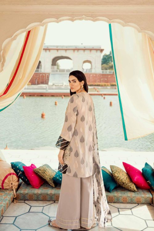 Cross Stitch Pakistani Suits Rani Bagh – Luxury Lawn '19 Design 15 NO DUPATTA 2 PC