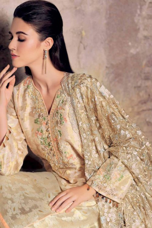 Gul Ahmed Eid Collection 2019 FE254 Gul Ahmed Eid Collection 2019 - Original Chiffon Dupatta Salwar Suit