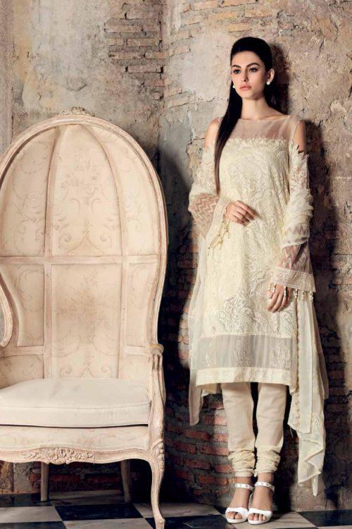 Gul Ahmed Eid Collection 2019 FE227 Gul Ahmed Eid Collection 2019 - Original Chiffon Dupatta Salwar Suit