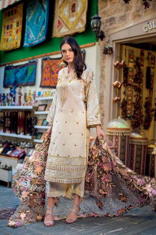 Gul Ahmed Gul Ahmed Eid Collection 2019 FE256 Chiffon Dupatta Salwar Suit