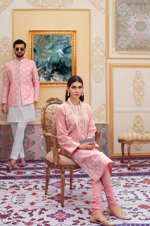 Gul Ahmed Eid Chickenkari Collection 2019 FE210 Gul Ahmed Eid Collection 2019 - Original best pakistani suits collection