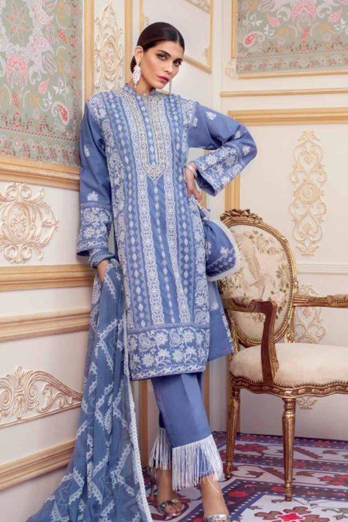 Gul Ahmed Eid Chickenkari Collection 2019 FE204 RESTOCKED