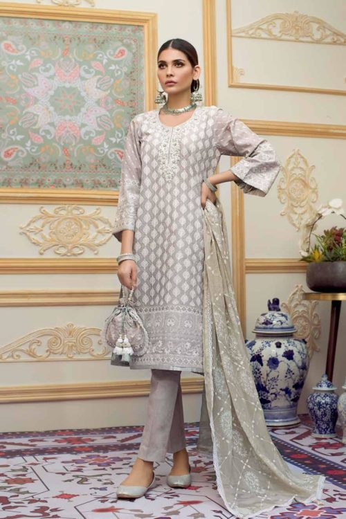 *On Sale* Gul Ahmed Eid Chickenkari Collection 2019 FE207 RESTOCKED best pakistani suits collection