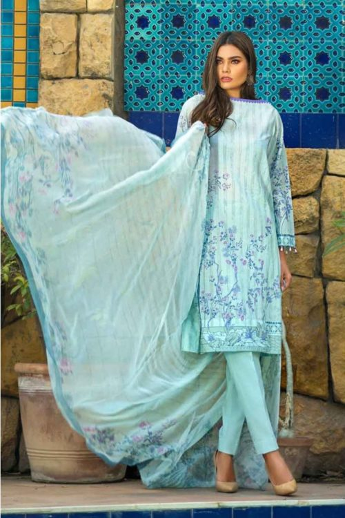 GulAhmed Mal Mal Collection 3 PC Lawn Suit  BM-123 – HOT Gul Ahmed best pakistani suits collection