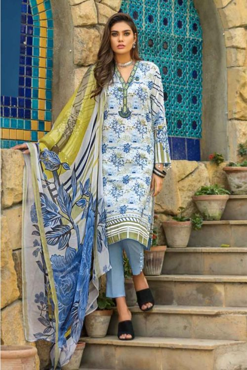 GulAhmed Mal Mal Collection 3 PC Lawn Suit  BM-106 – HOT