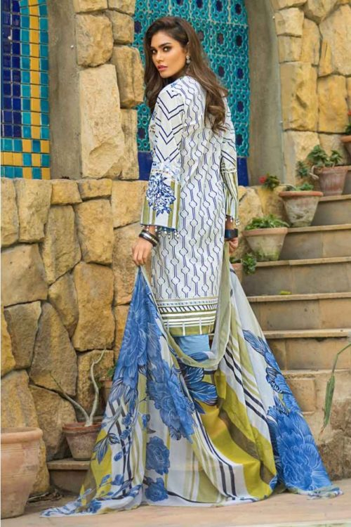 GulAhmed Mal Mal Collection 3 PC Lawn Suit  BM-106 – HOT Gul Ahmed best pakistani suits collection