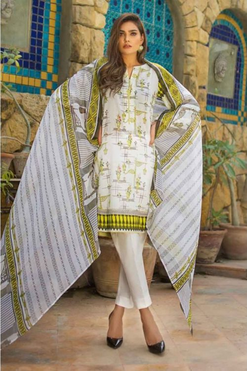 GulAhmed Mal Mal Collection 3 PC Lawn Suit   BM-121 – HOT GulAhmed Limited Edition Malmal Collection - Original best pakistani suits collection