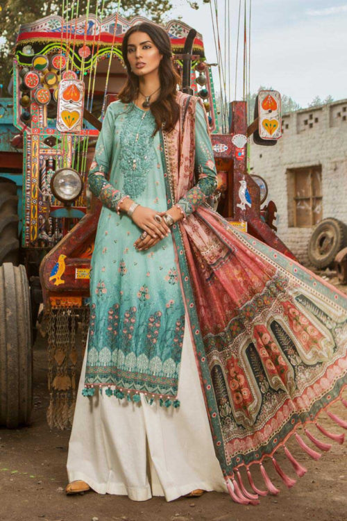 *On Sale* MARIAB MPRINTS 2019 MPT-501-A best pakistani suits collection