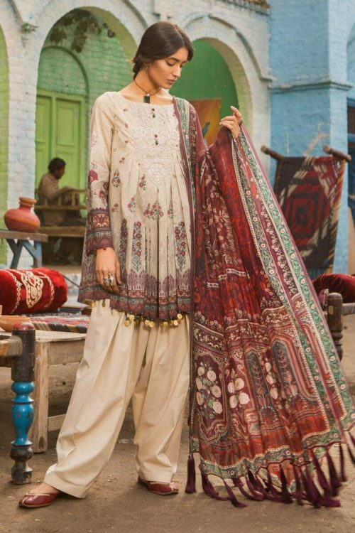 MARIAB MARIAB MPRINTS 2019 MPT-501-B best pakistani suits collection