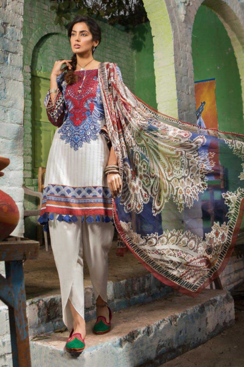 *Hot on Sale* MARIAB MPRINTS 2019 MPT-503-B HOT best pakistani suits collection