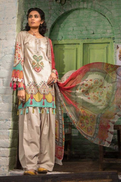 MARIAB MARIAB MPRINTS 2019 MPT-510-A best pakistani suits collection