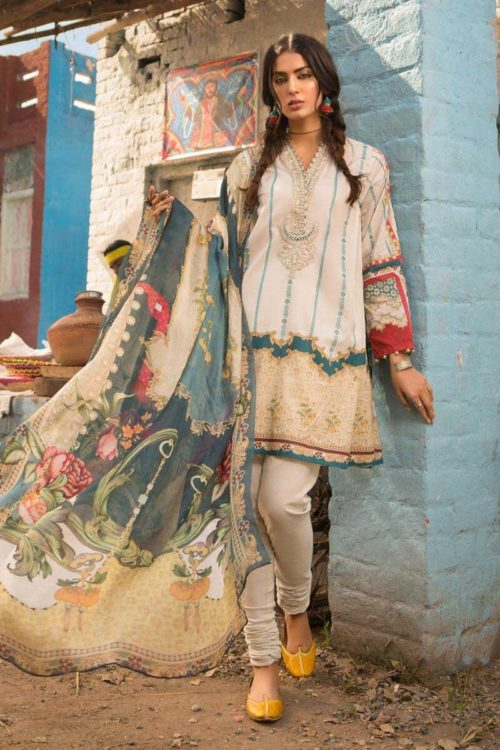 *On Sale* MARIAB MPRINTS 2019 MPT-511-B Restocked best pakistani suits collection