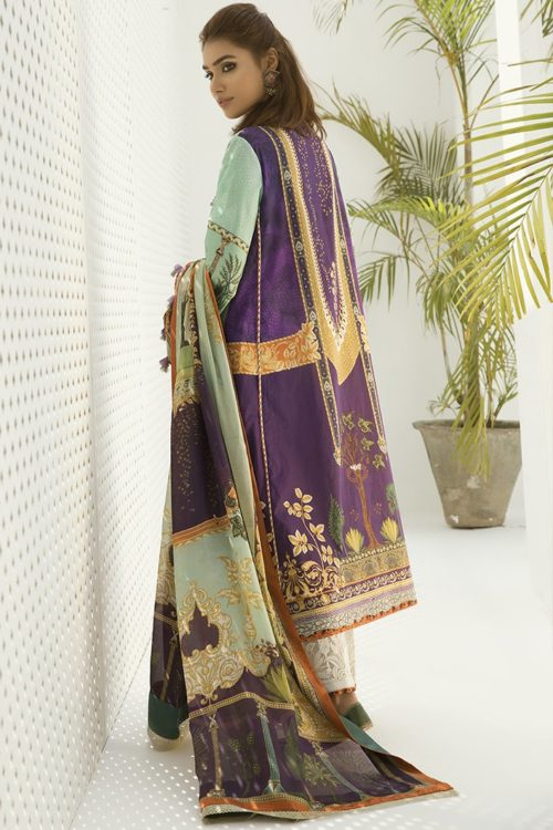 Zaha's Fayroz Eid Unstitched Collection BAHAR (ZF-09) HOT