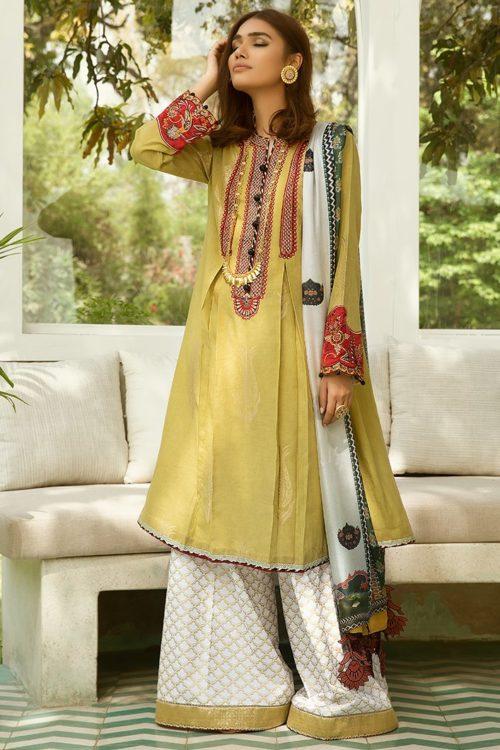 Zaha's Fayroz Eid Unstitched Collection SHAHNAZ (ZF-07) RESTOCKED