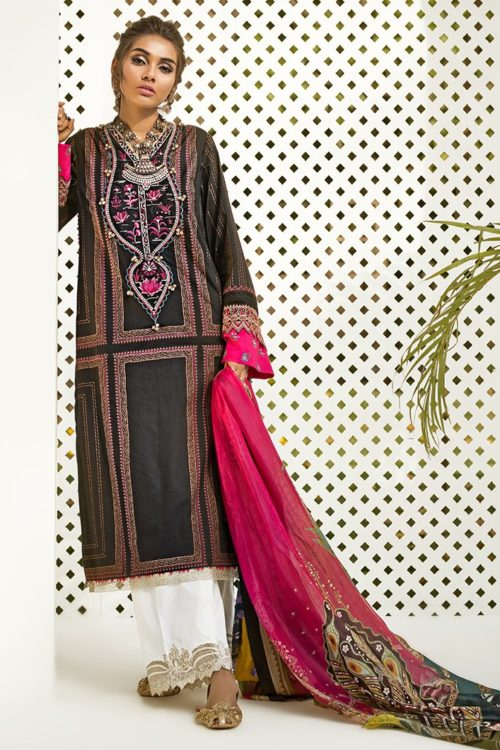 *On Sale* Zaha's Fayroz Eid Unstitched Collection PAREESA (ZF-10) RESTOCKED best pakistani suits collection
