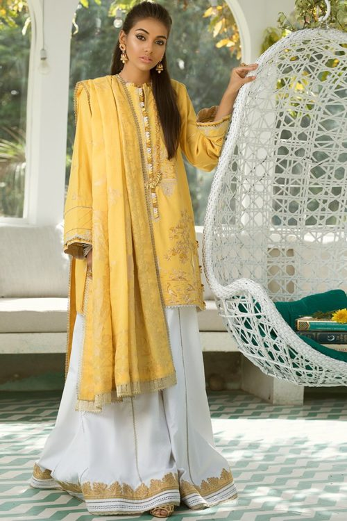 Zaha's Fayroz Eid Unstitched Collection ROSHNI (ZF-06) RESTOCKED