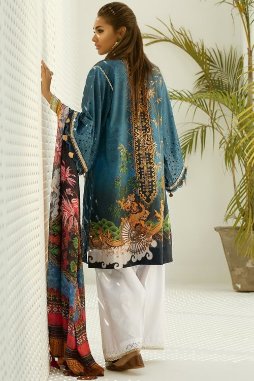 Zaha's Fayroz Eid Unstitched Collection  PARVANEH (ZF-08) RESTOCKED