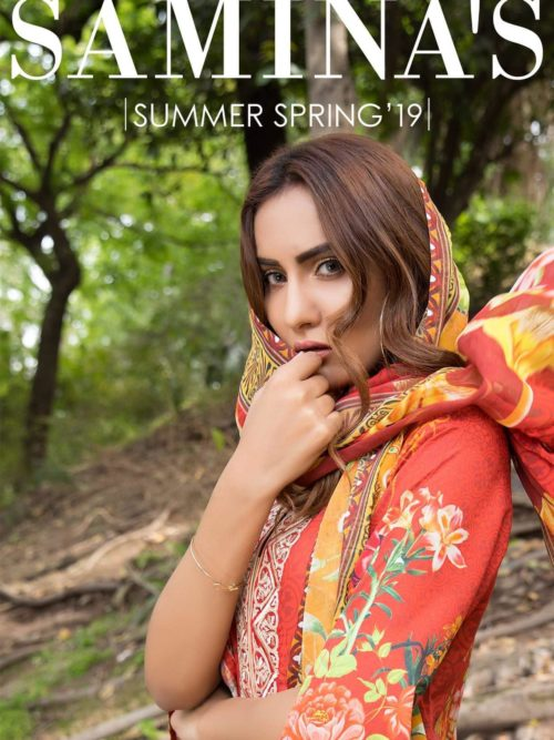Samina's Lawn Embroidered - Original