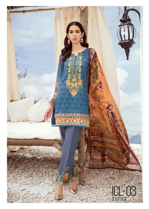 Iznik Chinon Lawn Volume 3 ICL -03 (Faience)