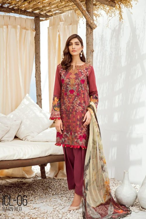 Iznik Chinon Lawn Volume 3 – ICL -06 (Barn Red)