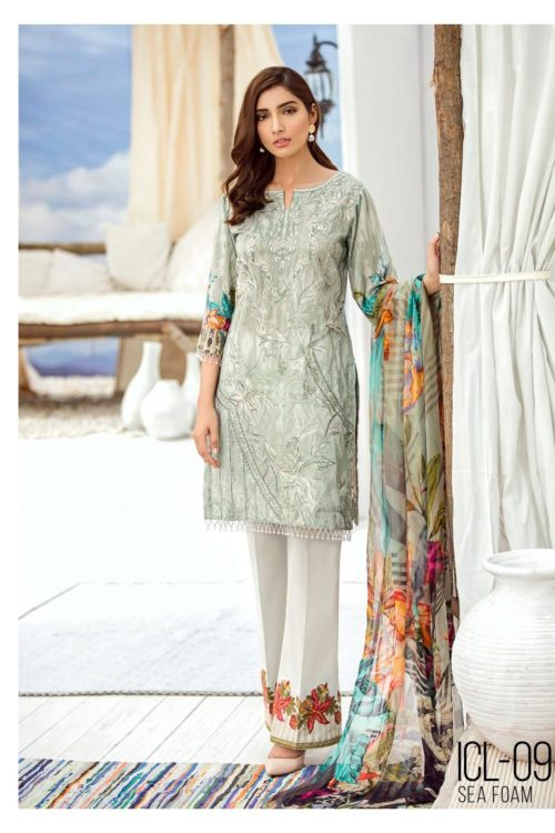 Iznik Chinon Lawn Volume 3 – ICL -09 (Sea Foam)