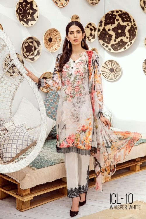 Iznik Chinon Lawn Volume 3 –  ICL -10 (Whisper white)