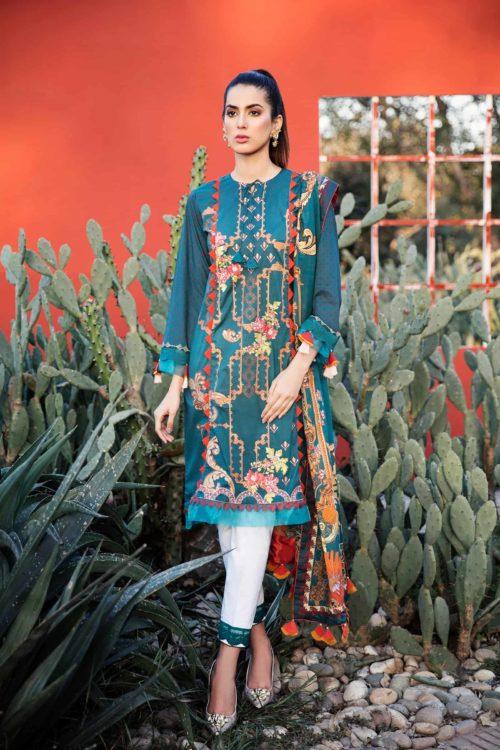 Qalamkar Qline Lawn Lawn - Reloaded Lawn Dupatta Salwar Suits