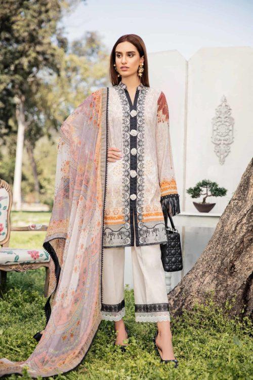Qalamkar Qline Lawn ~Sold out~ Chiffon Dupatta Salwar Suit