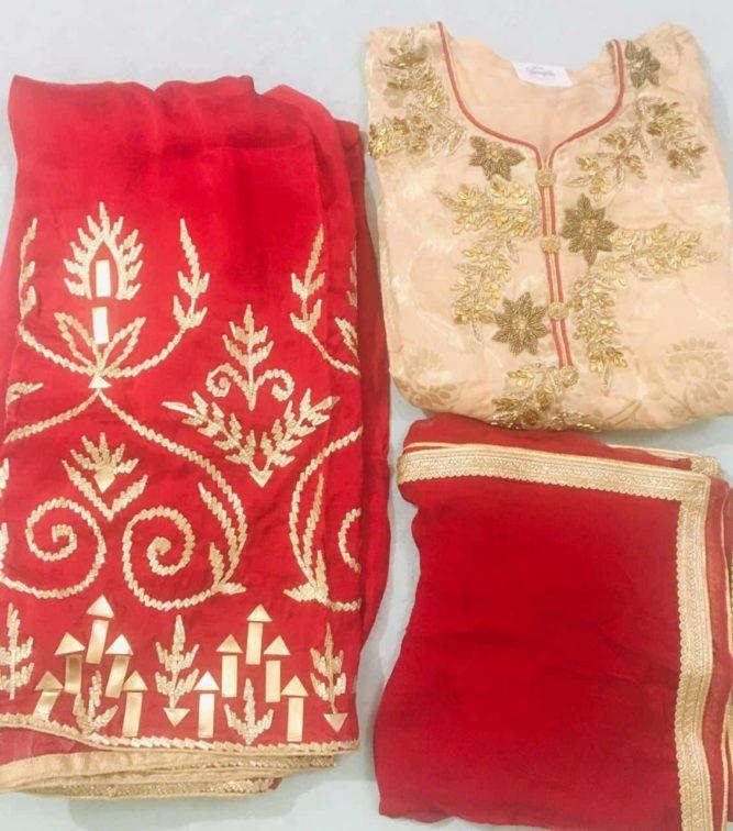 Upara Silk Embroidered Salwar Kameez