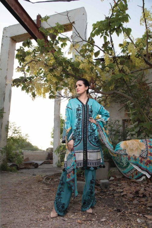 Ombre by Firdous Embroidered Lawn HOT