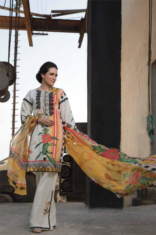 Ombre by Firdous Embroidered Lawn
