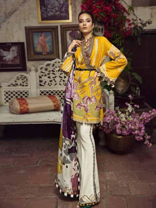 Maryam Hussain Luxury Festive Lawn Design 04