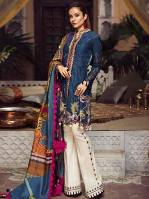 Maryam Hussain Luxury Festive Lawn Design 08