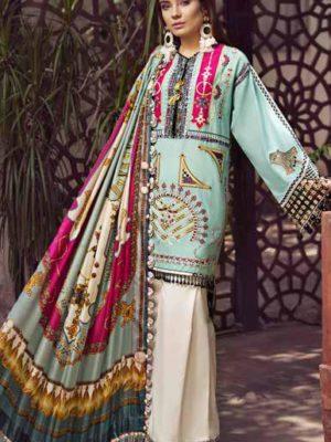 Maryam Hussain Luxury Festive Lawn Design 07