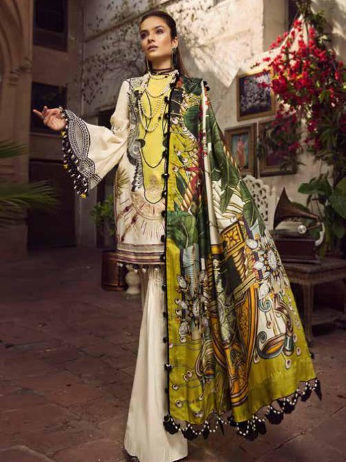 Maryam Hussain Luxury Festive Lawn Design 01
