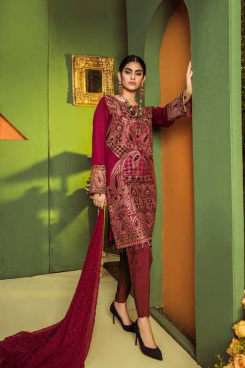 Aurelia by Adan Libas MONARCH – EMBROIDERED LAWN UNSTITCHED