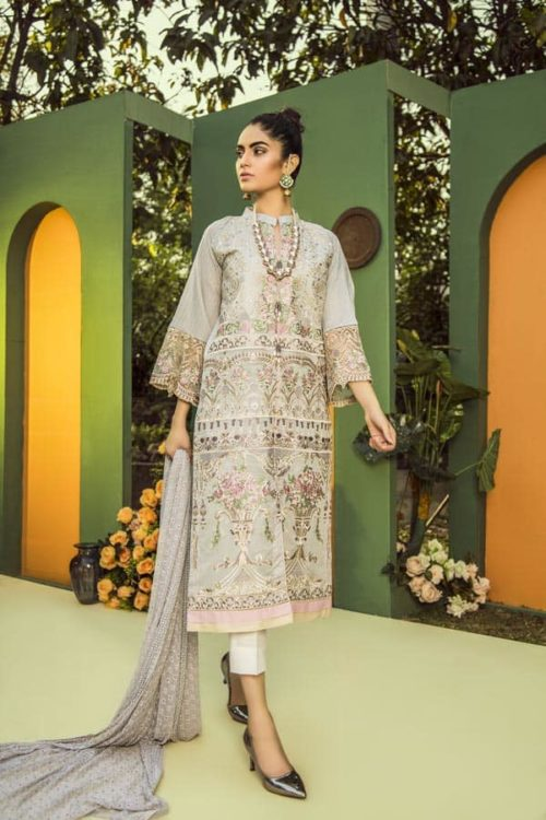 Aurelia by Adan Libas MOON MIST – EMBROIDERED LAWN UNSTITCHED RESTOCKED