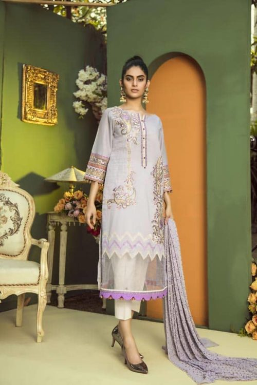 Aurelia by Adan Libas SWISS COFFEE – EMBROIDERED LAWN UNSTITCHED RESTOCKED