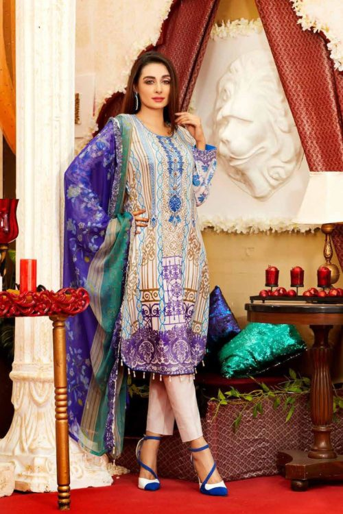 *Hot on Sale* Tawakkal Amna Sohail Imperail Reflections HOT Lawn Dupatta Salwar Suits