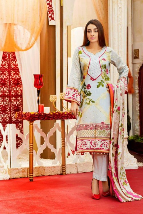 *On Sale* Tawakkal Amna Sohail Imperail Reflections Lawn Dupatta Salwar Suits