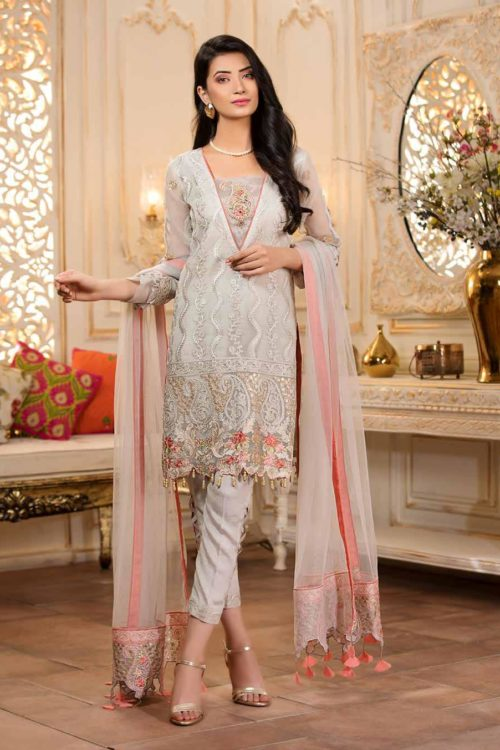 Maryam's Empereus Chiffon Collection Vol 5 ~Sold out~ Chiffon Dupatta Salwar Suit
