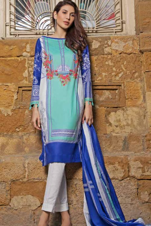 GulAhmed Mal Mal Collection CL-496B GulAhmed Mal Mal Collection Vol 2 - Original best pakistani suits collection