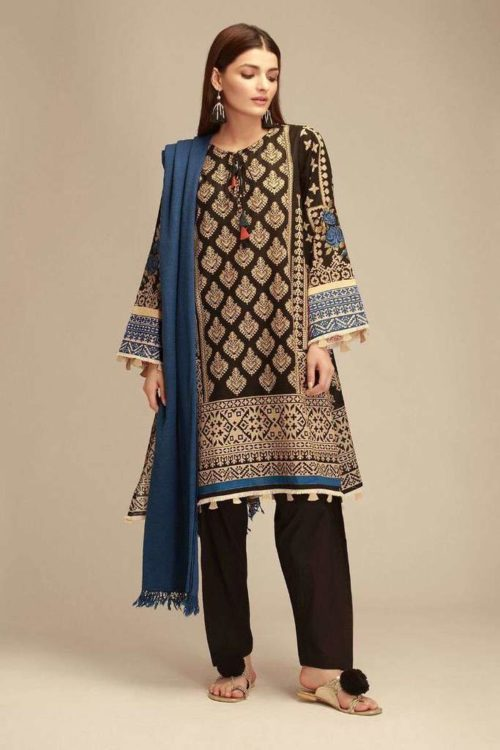 Khaadi Winter Collection|KZ18402|Black